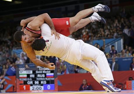 APTOPIX London Olympics Wrestling Men