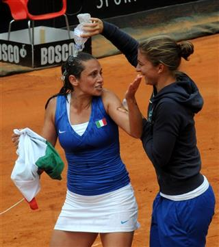 Italy Czech Republic Tennis Fed Cup