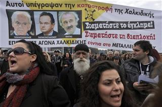 Greece Gold Mines Protest