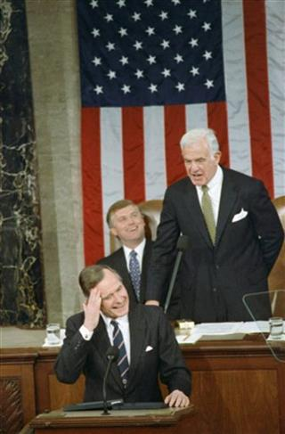 George H. Bush, Dan Quayle and Tom Foley