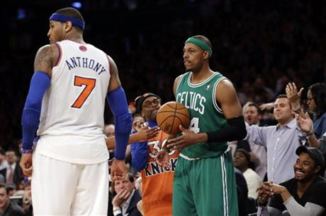 Carmelo Anthony, Spike Lee, Paul Pierce