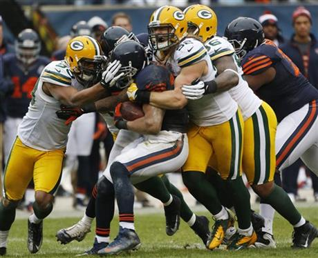 Matt Forte, Clay Matthews, Mike Neal, Brad Jones