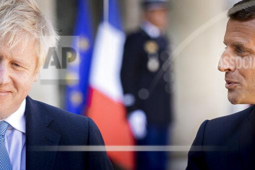 Boris Johnson Meets With Emmanuel Macron - Paris