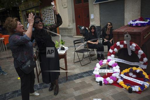 Funeral of a neighbour demonstration in Malaga, Spain - 17 May 2019