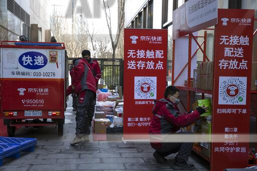 China Outbreak Delivery Drivers