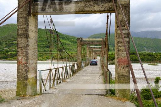 Albania, Kote, bridge over river Shushice