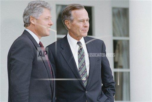 Watchf Associated Press Domestic News  Dist. of Col United States APHS202573 President Bush and President-elect Clinton