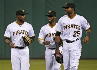 Starling Marte, Gregory Polanco, Andrew McCutchen