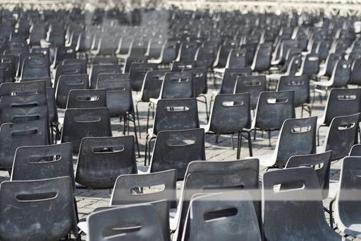 Vatican City, Row of chairs, Preparation for an audience of the Pope