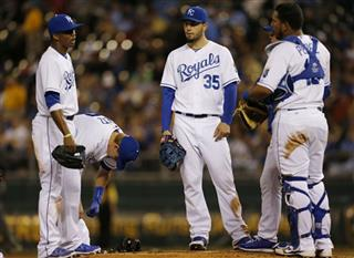Alcides Escobar, Chris Getz, Eric Hosmer, Salvador Perez