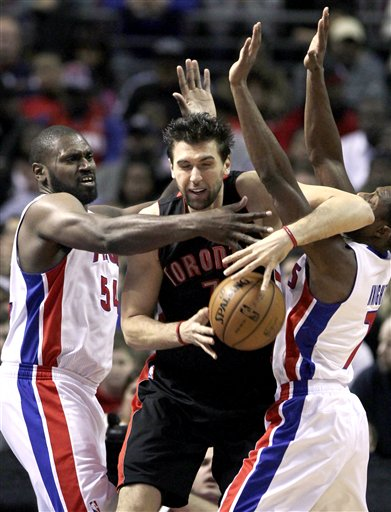 Andrea Bargnani, Jason Maxiell, Brandon Knight