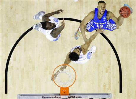 APTOPIX NCAA Kentucky North Carolina Basketball