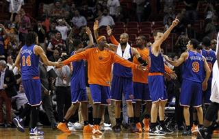 Ronnie Brewer, Tyson Chandler, Kurt Thomas, Pablo Prigioni (9), Chris Copeland (14)