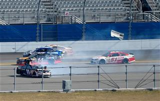 Denny Hamlin, Tony Stewart, Carl Edwards, Trevor Bayne, Regan Smith