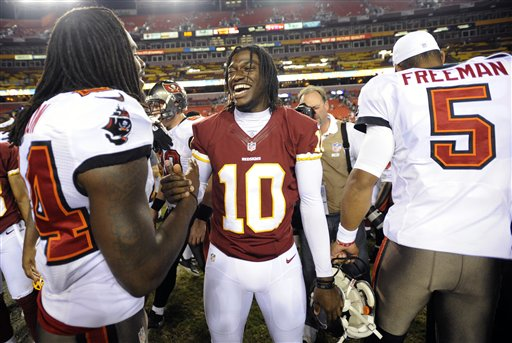 Robert Griffin III, Mark Barron, Josh Freeman