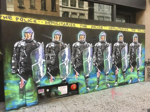 Anti-Police and BLM Murals are seen in NYC - 6/29/20
