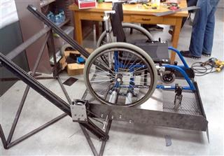 People Powered Wheelchair Lift