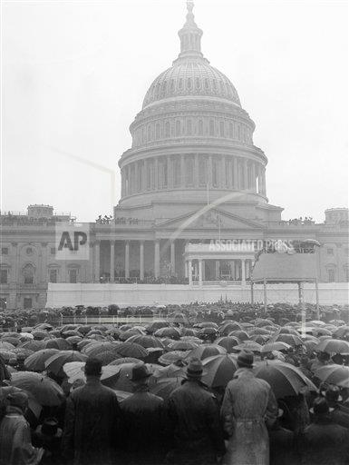 Watchf AP A  DC USA APHS361546 FDR Inauguration