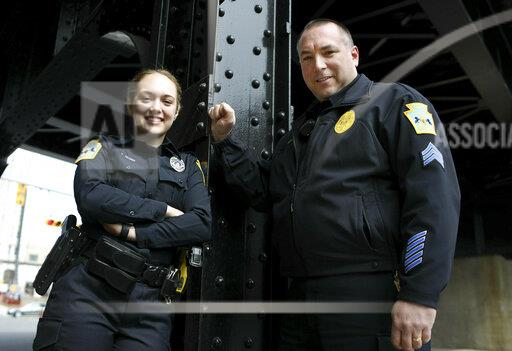 Exchange Father Daughter Police Officers