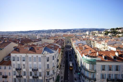 France, Nice, view to the city from above