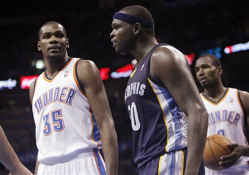 Kevin Durant, Serge Ibaka, Zach Randolph
