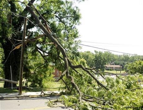 Storm Damage in Staunton 6/30/12