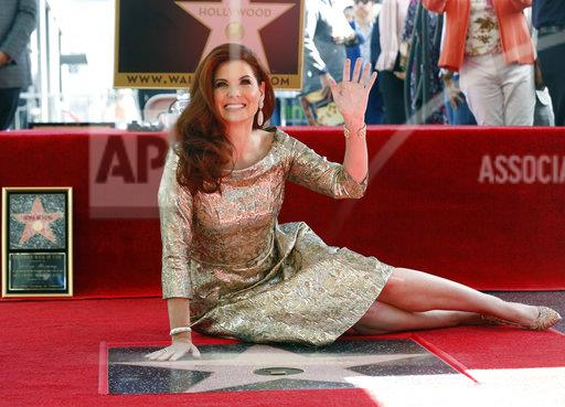 APTOPIX Debra Messing Honored with a Star on the Hollywood Walk of Fame