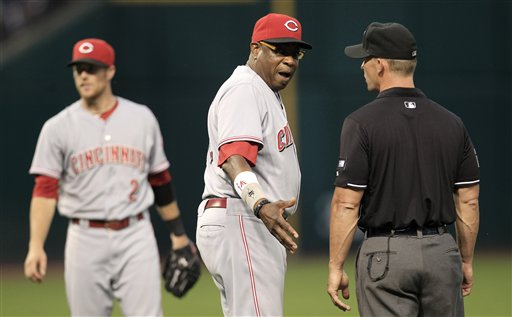 Dusty Baker, Zack Cozart, Jim Wolf