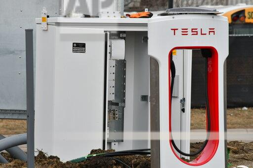 Tesla Charging Stations Are Installed