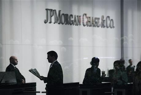 APTOPIX JPMorgan Loss