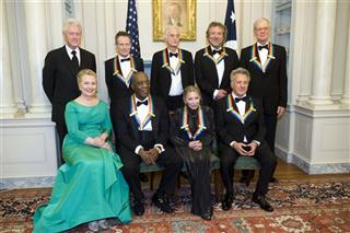 Bill Clinton, Hillary Rodham Clinton, John Paul Jones, Buddy Guy, Jimmy Page, Natalia Makarova, Robert Plant, Dustin Hoffman, David Letterman.