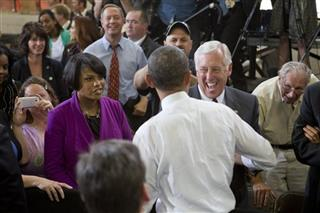 Barack Obama, Martin O'Malley, Steny Hoyer, Stephanie Rawlings-Blake