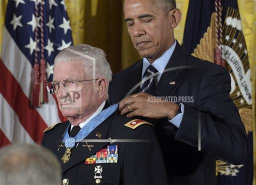 APTOPIX Obama Medal of Honor