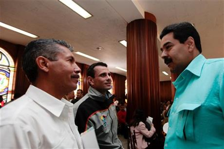 Nicolas Maduro, Henrique Capriles, Henry Falcon