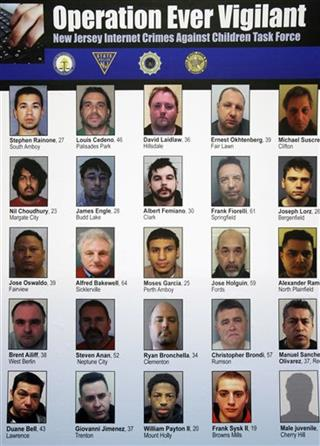 NJ Child Porn Arrests