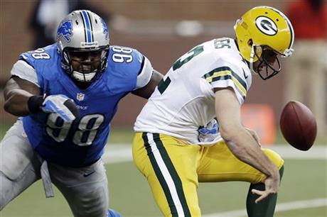 Nick Fairley, Aaron Rodgers