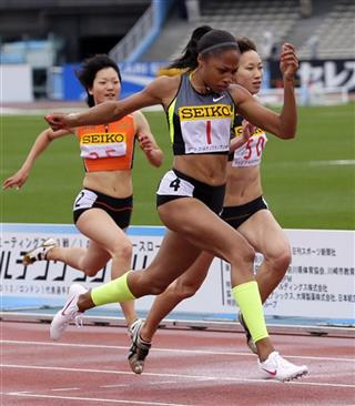 Allyson Felix, Y Wei, Chisato Fukushima, Anna Doi