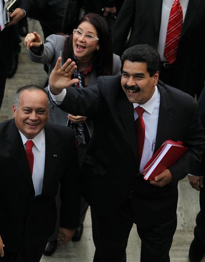 Nicolas Maduro, Disodado Cabello, Cilia Flores