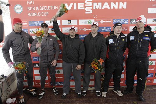Steven Holcomb, Curtis Tomasevicz, Francesco Friedrich, Gino Gerhardi, Cory Butner, Charles Berkeley