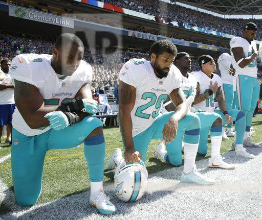 Protesting Dolphins Football