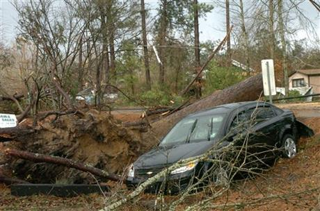 Christmas Day storm, Tuesday, Dec. 25, 2012-Melinda Martinez/mmartinez@thetowntalk.com