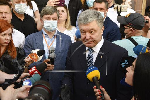 Petro Poroshenko arrives for questioning at the State Bureau of Investigation in Kiev, Ukraine - 10 Jun 2020