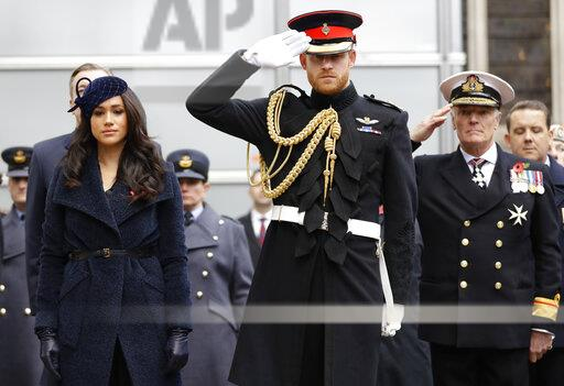 APTOPIX Britain Royals Remembrance