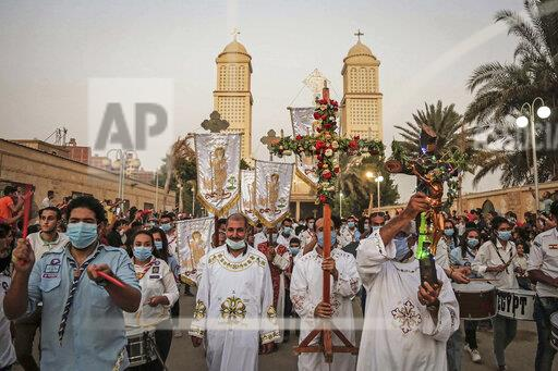 Saint Parsoma the Naked death anniversary in Egypt