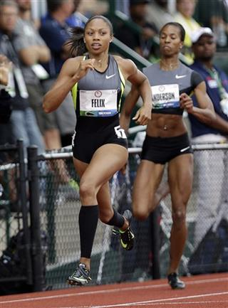 Allyson Felix, Alexandria Anderson
