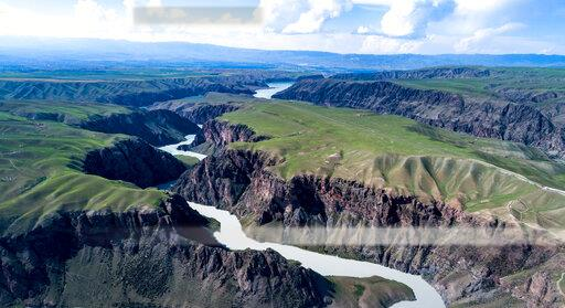 CHINA CHINESE XINJIANG YILI CANYON GORGE NATURAL SCENIC VIEW