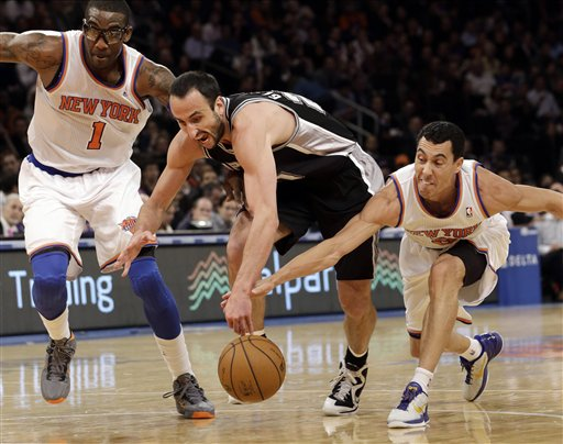 Manu Ginobili, Amare Stoudemire, Pablo Prigioni