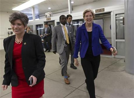 The Latest: Ernst, a running-mate prospect, meets Trump