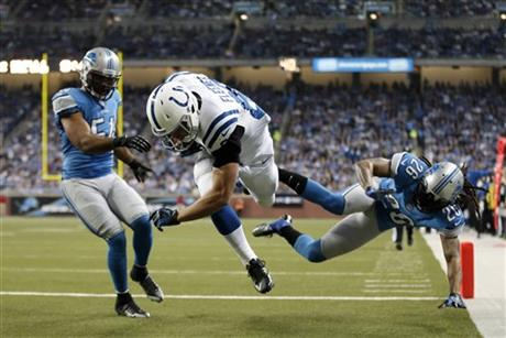 Coby Fleener, DeAndre Levy, Louis Delmas