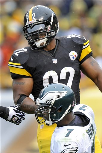 James Harrison, Michael Vick